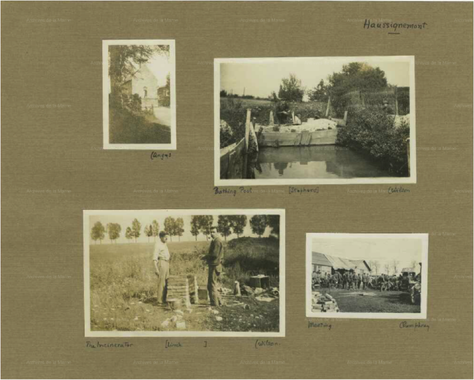 Premier album photographique de Bernard Ireland Macalpine (2e partie du fonds). Archives départementales de la Marne, 1 Num 63 1-9 - 1 Num 63/2 .