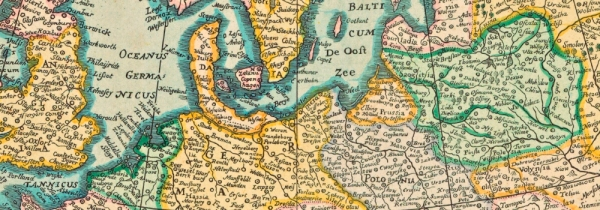 Cartographic Collection in Croatian State Archives: EUROPE, general map, engraving in colour, 1637. HR-HDA-902