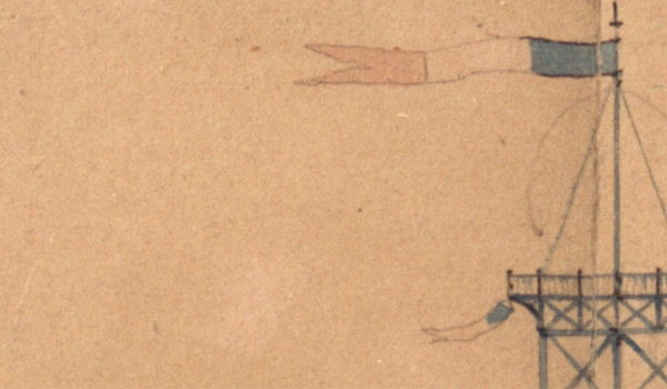 The First Sketch of the Eiffel Tower. ETH Zürich University Archives, ETH Library, CH-001807-7:Hs 1092:1