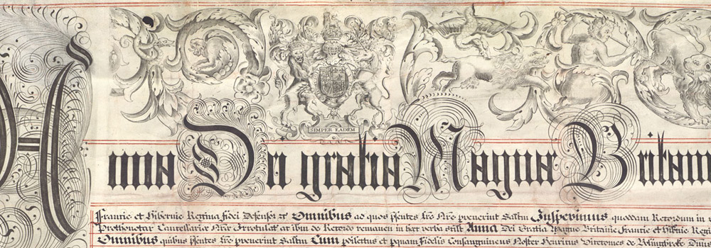 Treaty of Friendship and Truce, 1712. Archivo Histórico Nacional, Spain. AHN, Estado, MPD.1107